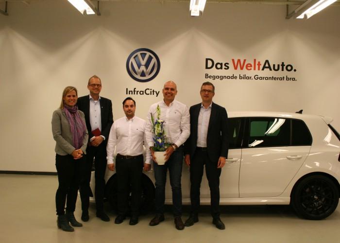Välkommenbesök hos Volkswagen