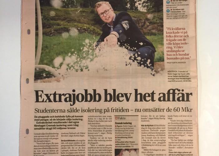 Reportage om Väsbyentreprenör i Dagens Industri