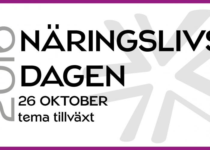 Fler talare klara för Näringslivsdagen den 26 oktober!